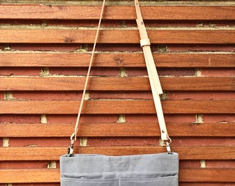 Hand Waxed Canvas Bag - Mini Cross Body Bag - 24 Color Options   Cross Body Bag, Purse, Handbag