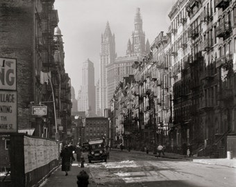Henry Street - Manhattan - 1930 - New York City - Vintage - Photo - History - Photograph - Art - Photography - Empire State - Print - NYC