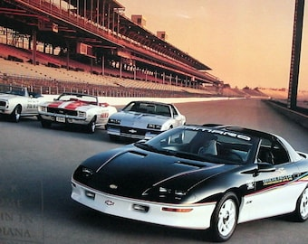 1993 camaro z28 etsy chevrolet camaro poster pace car 1993 z28 general motors 77th indy 500 2 sided 17 x publicscrutiny Image collections