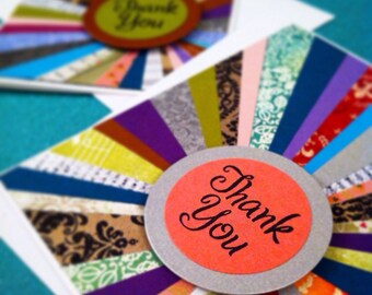 Patchwork Sunburst Thank You Card