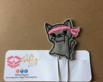 Ninja Kitty Clip/Planner Clip/Bookmark. Cat planner clip