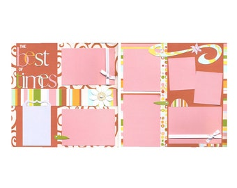 The Best of Times - Premade Scrapbook Page Set