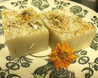 Orange Calendula Soap Bar with Chamomile