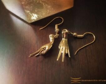Surya (Fire Element) Mudra Earrings