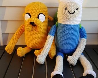 Finn the Human and Jake the Dog Adventure Time Plush (Amigurumi)