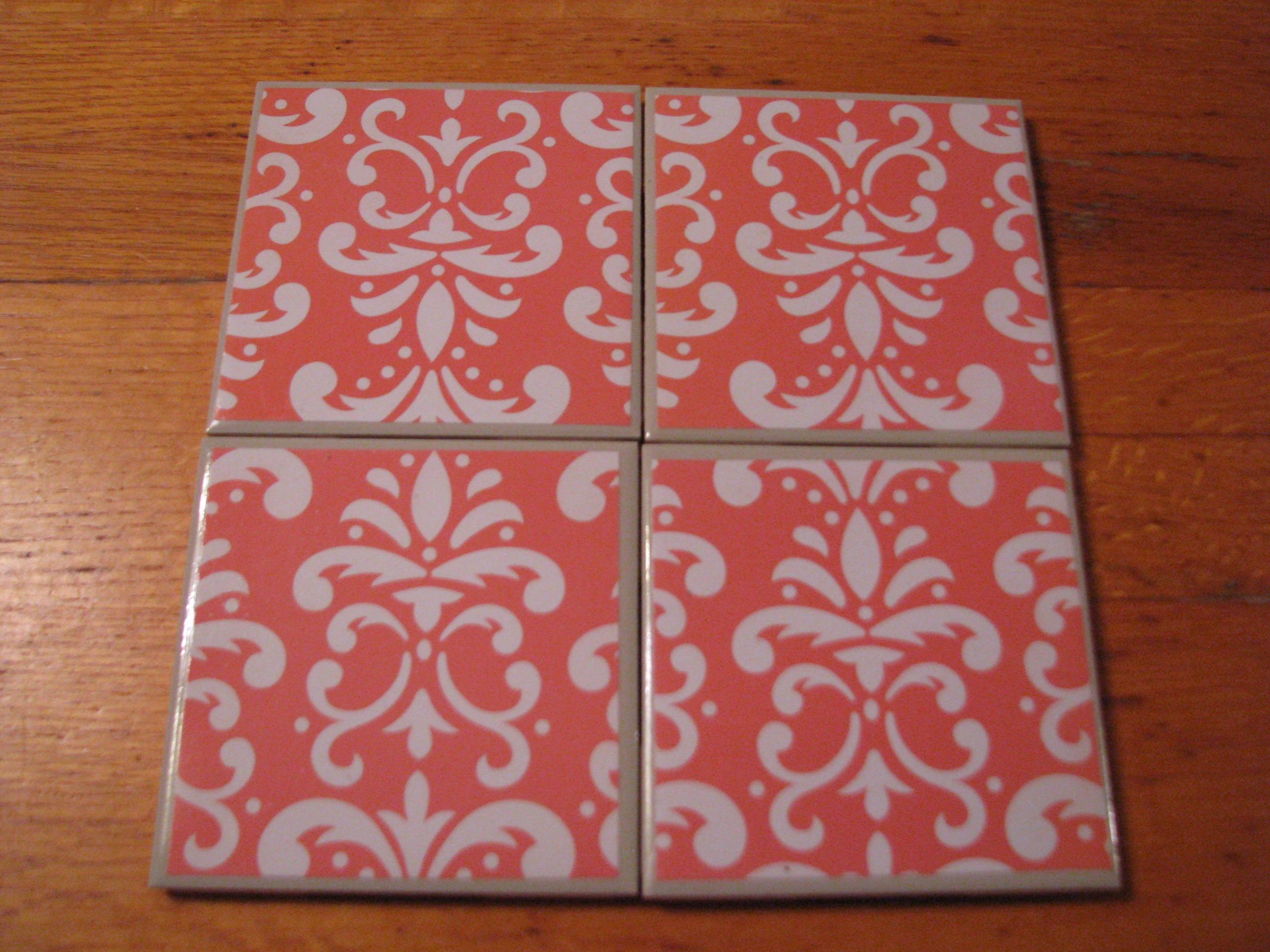 Coasters For Drinks  Tile Coasters  Handmade Coasters Orange
