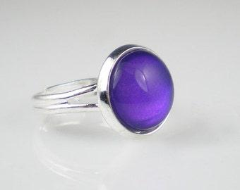 Deep Violet Blue Nail Polish Ring Let's Talk Nail Polish Jewelry