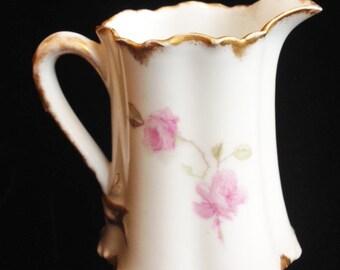 Haviland & Co. Pink Rose Creamer Pitcher