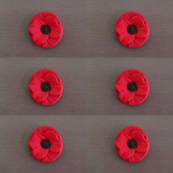 6 x poppy flower cupcake toppers edible poppies poppy cake topper 1143 mightylinksfo