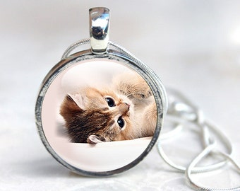 Cat Jewellery - Cat necklace -  Cat pendant - Kitten Necklace - Kitty Cat Pendant Necklaces - Cat Photo (CAT 2)