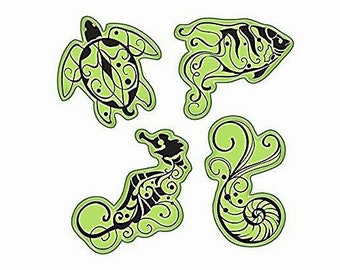 Inkadinkado Stamping Gear ~Under the Sea~ 4 pc Cling Stamp Set
