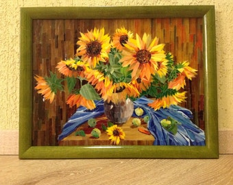 Sunflowers on a table