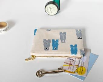 Gift for boy, boys zipper pouch, boys coin purse, small zipper pouch, kids coin purse, gadget pouch, bears