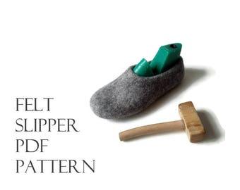 How to Make Wet-Felted Slippers PDF TUTORIAL Felt Making for Beginners