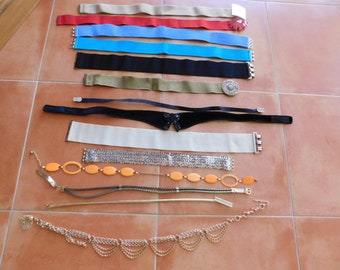 14 pc lot of Vintage Belts - Great Variety - Great Condition