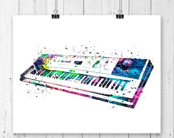 Keyboard Piano  Fine  Art Print, Poster, Wall Art, Home Decor, Kids Wall Art, Play Room Wall Art, Musical Instrument, Archival print