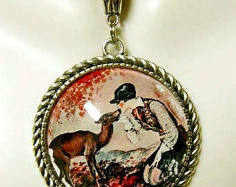 Huntress with deer pendant and chain - WAP25-002