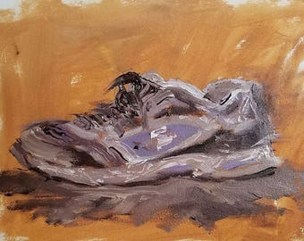 My Old Shoe - original oil painting