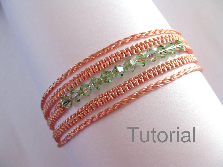 Macrame bracelet necklace pattern tutorial pdf two in one
