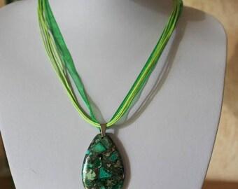 Necklace in jaspe - semiprecious