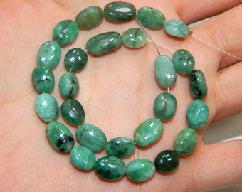 70%OFF Emerald Gemstone Smooth beads /Emerald Oval Beads Size 7.4x7 mm Approx  - 0404
