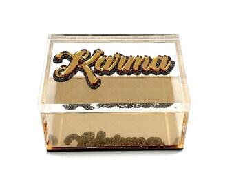 Karma Acrylic Lucite Box