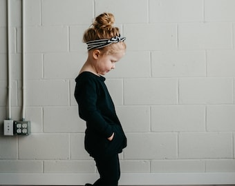 Mini Me Romper (black) - kids romper, toddler romper, baby romper, mommy and me romper, harem romper, onesie, romper, black romper