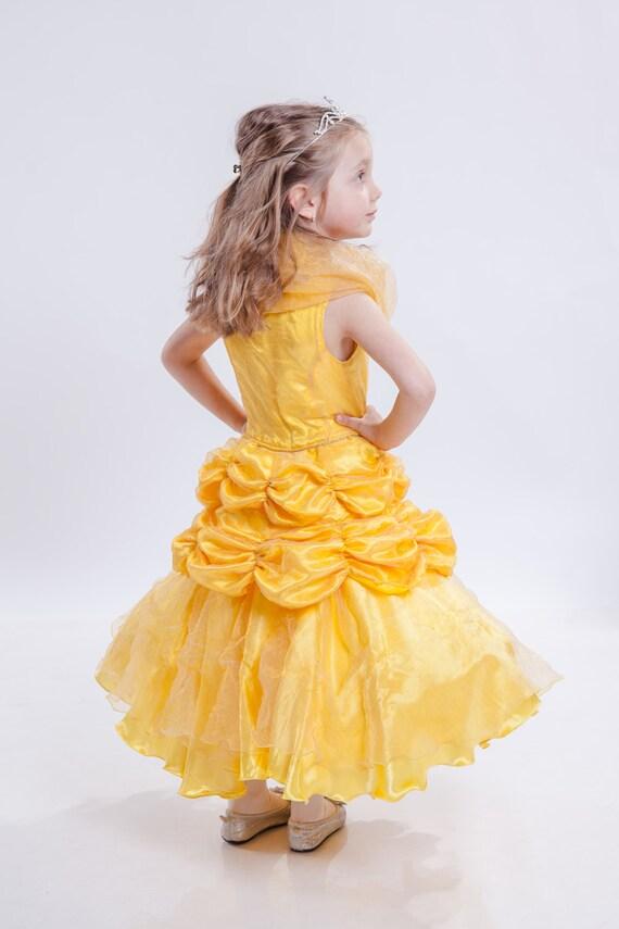 Belle Dress Bell Costume Girls Yellow Dress Girls Disney