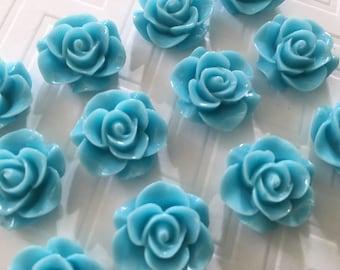 Cute Blue Thumbtacks or Magnets - set of 12 - dorm decor, office decor, hostess gift, baby shower, wedding, bridal shower, teacher gift