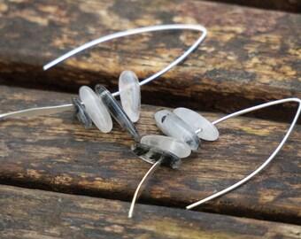 Quartz Earrings, Quartz Sterling Silver Earrings, Long Sterling Silver Earrings, Dangle Earrings