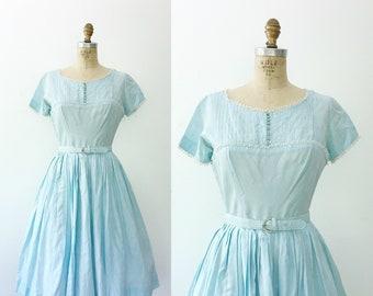 50s vintage dress / 50s blue dress / Alice dress