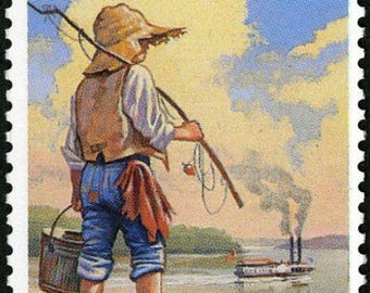 Five (5) unused postage stamps - Adventures of Huckleberry Finn // 29 cent stamps // Face value 1.45