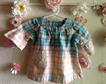 Baby Upcycled Bleached Top