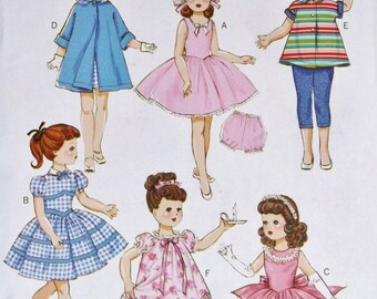 """Butterick Retro 1950s. 1956, American Girl, Gotz, Our Generation, Springfield or other 18"""" dolls"""