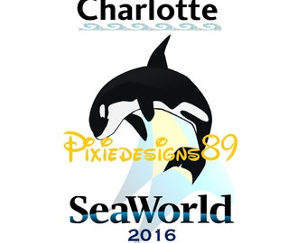 Personalised SeaWorld Vacation *ANY YEAR* - Iron On T-Shirt Transfer