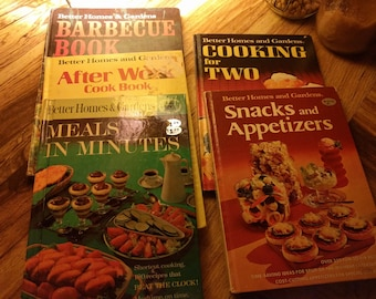 Vintage Lot of Better Homes and Gardens Cookbooks