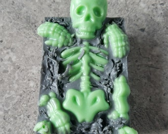 Halloween soap - skeleton haunted soaps, broken bones, creepy, scary, great for theme party, favors, gag gift, trick or treat, fright night