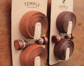 Premium Leather Bicycle Handlebar Bar Tape Wrap - Temple Cycles