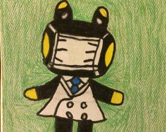 Animal Crossing Raddle Small Drawing