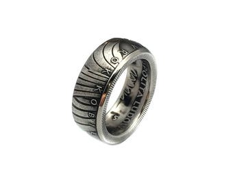 Mens Poland 10 Zlotych Coin Ring Ring Size 11 and Double