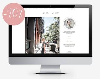"WordPress Theme for Fashion Bloggers / ""Front Row"" Responsive WordPress Website / Self Hosted WordPress Blog / Clean Feminine Style Blog"