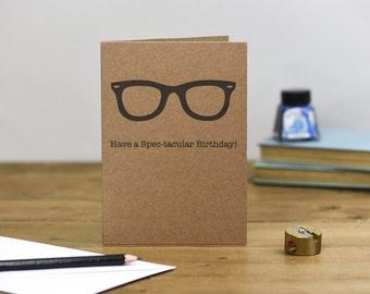 Spec-tacular Hipster Birthday Card