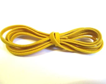 3 x 1 m wool yellow color suede cord