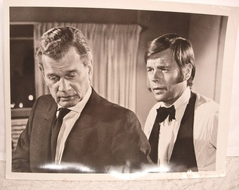 "Photo Release of Joseph Cotton and Robert Wagner in It Takes A Thief 1969 9""x7"""