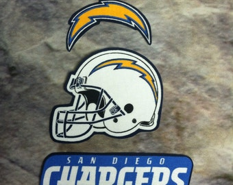 San Diego Chargers iron on applique set