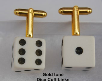 Vegas Style Dice re-purposed into Mens' Cuff Links and Tie-Tacs/hat pins