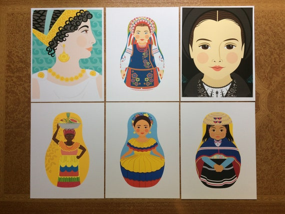 "Six Traditional Folk Dress 8.5""x11"" Prints, Proofs / Seconds"