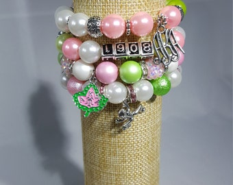 Sorority Bracelet Stacks-AKA