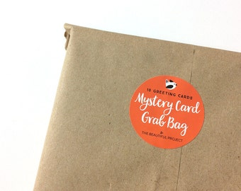 Mystery Pack of 10 Greeting Cards - Mix and Match Sale, Card Sale, Any Occasion Cards, Greeting Card Surprise Sale, Stocking Stuffer