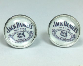 Jack Daniels Whiskey Earrings Bartender Earrings Bartender Jewelry